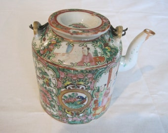 Antique Rose Medallion Tea Pot