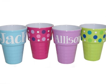 Personalized Ice Cream Bowl / Party Favor