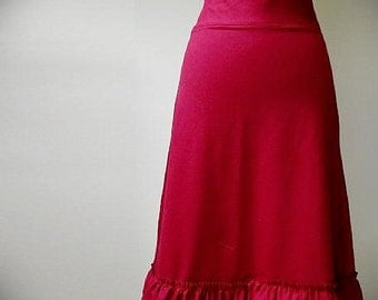 Maxi skirt, organic cotton skirt, custom length skirt, handmade organic clothes
