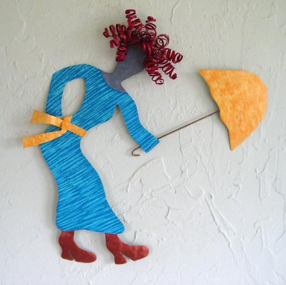 Metal Umbrella Wall Decor : Metal wall art sale umbrella gal upcycled by