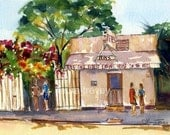 Pepe's Key West Watercolor Print