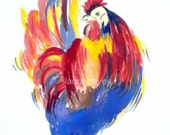 Ron the RooSTer Watercolor Print