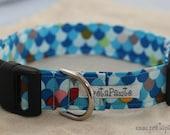 Dog Collar: Blue Scallop Dog Collar