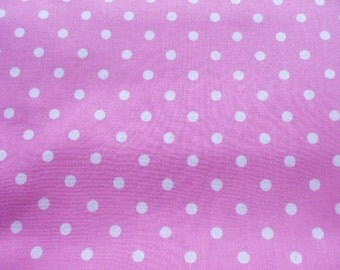 "Scrap - Pastel Color Polka Dots on Pink - 1.5 Yard 112cm/44""W x 145cm/57""L(ko0805)"