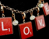 10 Scrabble Charm Trays with Lobster Clasp