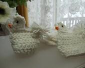 Crocheted Chicken - Easter Egg Holder - set of six