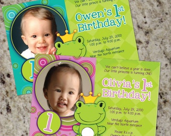 FROGGIES - Printable Photo Party Invitation - BOYS or GIRLS