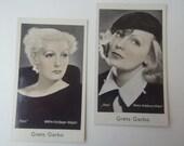 Vintage Greta Garbo Cigarette Tobacco Cards Collectible German