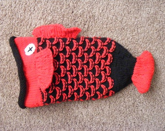 Knitted Kid's Fish Hat