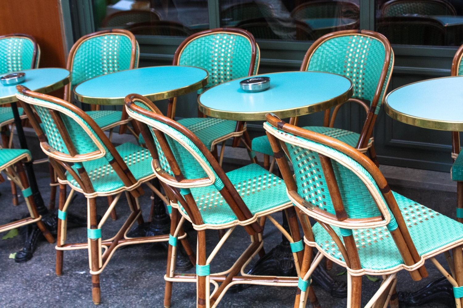 Paris graphy Mint green cafe Chairs in Montmartre
