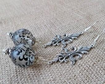 Art Deco Earrings Wing Earrings Art Deco Jewelry Sp By