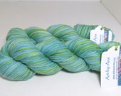 Sock Garden - Hand Dyed Yarn - Variegated in Light Blues and Greens