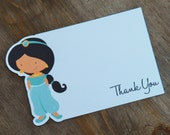 Princess Party - Set of 8 Jasmine Thank You Cards by The Birthday House