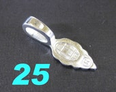 25 - Large Silver Plated Bails - Jewelry Findings