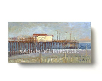 FISHING PIER Ocean City, MD - Giclée Canvas Print on Cradled Panel