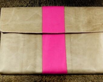 iPad mini 3 ,iPad mini 2 Leather Sleeve - Pretty in Pink (Organic Leather)