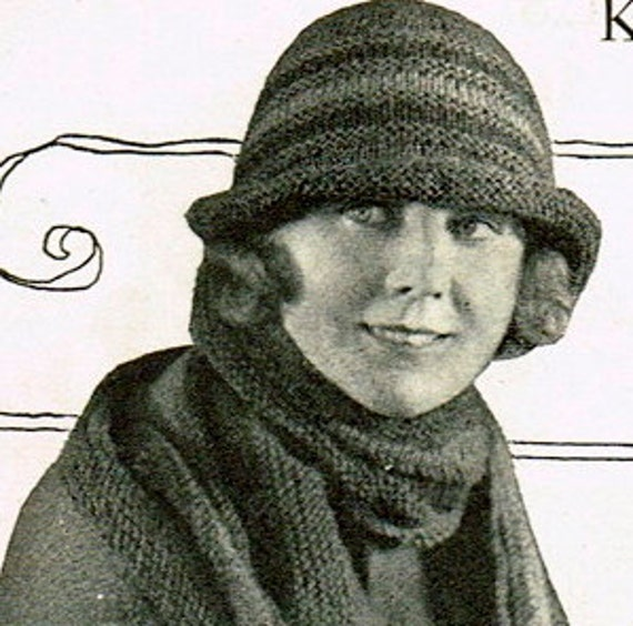 Downton Abbey Knitting Patterns : INSTANT DOWNLOAD-Vintage 1920s knitting pattern Downton Abbey