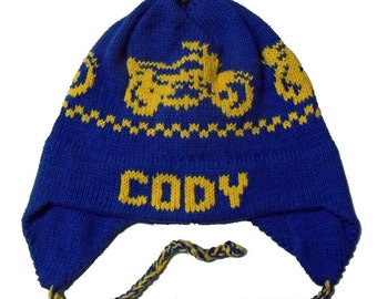 Personalized Earflap Hat - Motorcycles