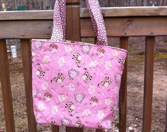 Diaper Tote Bag Quilted, RTS