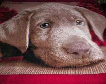 Puppy Dog Fleece Throw Blanket
