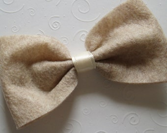 Rustic Wedding Dog Bowties Costume doggie Bow Tie Collar Attachment Pet Outfit Slider TAN bowtie Clothing wedding SMALL or LARGE
