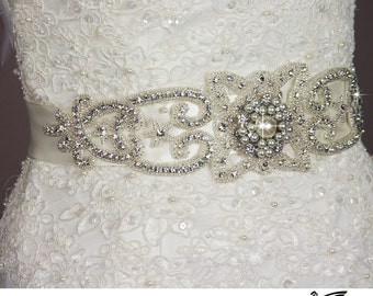 Wedding Belt, Bridal Belt, Wedding Sash Belt, Bridal Sash Belt, Crystal Sash, Rhinestone Sash, Wedding Belt Sash