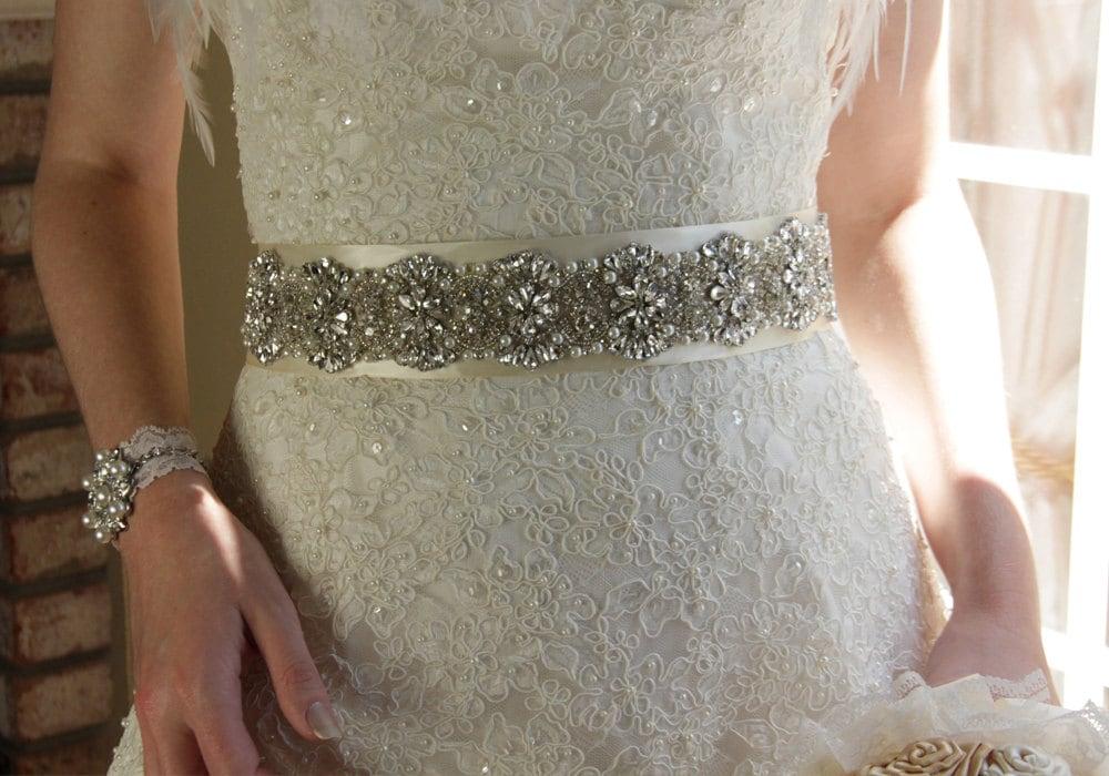 11 crystal bridal sash rhinestone bridal belt beaded for Sparkly belts for wedding dresses
