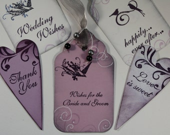 Wishes for the Bride and Groom Rubber Stamp~Bridal Wishes~Wedding Wishing Tree~Elegant Script Font~Wood mounted~Mountainside Crafts (13-50)