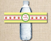 DIY Printable Water Bottle Label - Strawberry Party