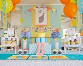 Little Man Party Kit, ABC Party, Custom Silhouette, ABC Alphabet, Bowtie DIY Party Package by MayDetails: Full Collection