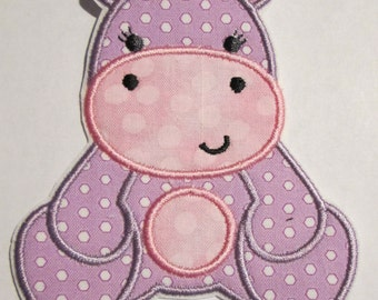 Iron On Applique - Girly Hippo