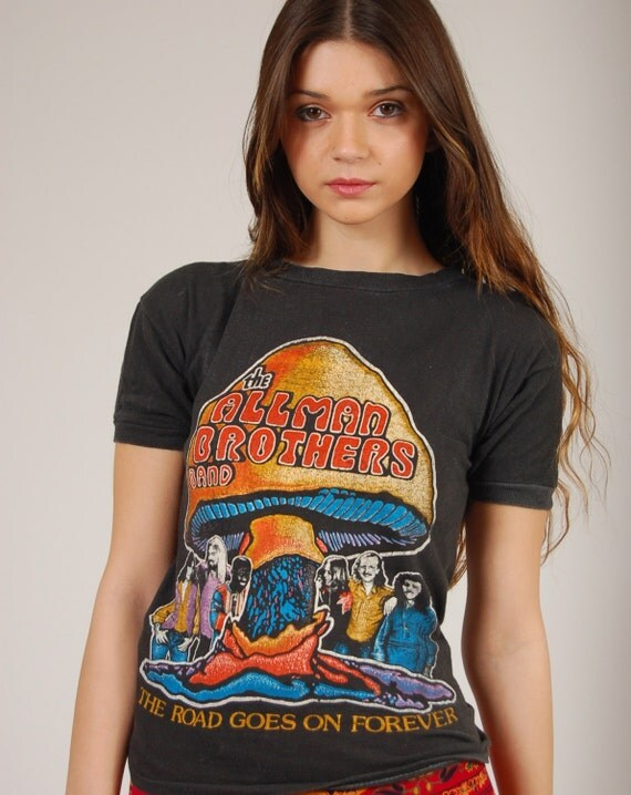 Vintage 70s ALLMAN BROTHERS Tour Tshirt 1979 Enlightened Rogues REUNION
