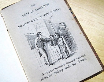 American Tract Society The Fourth Commandment and Good Examples for Good Children c. 1860  Rare! Illustrated.