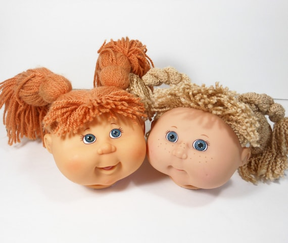 Cabbage Patch Doll Heads Redhead Blond By Peachychicboutique