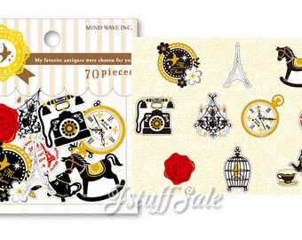 MIND WAVE European Antique theme sticker sack 70 pieces