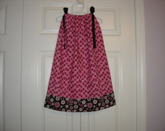 Hot Pink and Black Pillowcase Dress  3/5T