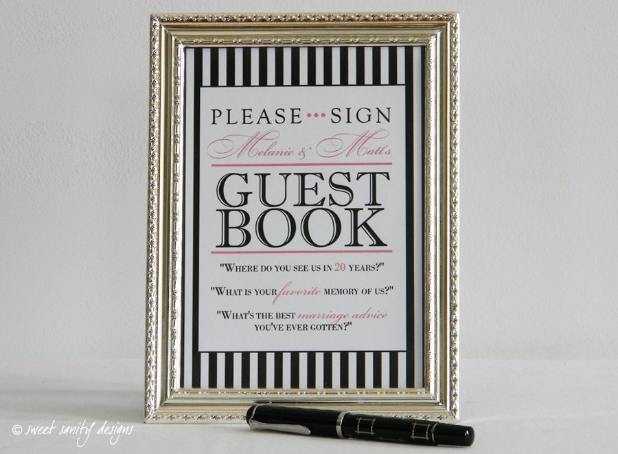 Reception Print Sign Our Guest Book