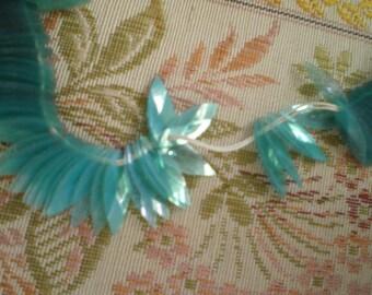 Vintage Teal Navette Rice Shaped Translucent Sequins 13 mm x 5 mm