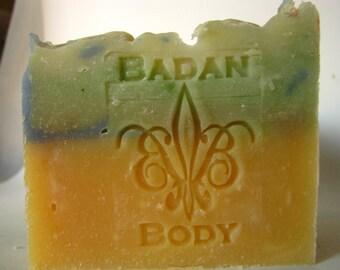 Green Tea & Lemongrass Soap - Natural Handmade Soap, Shea Butter Soap, Moisturizing Soap