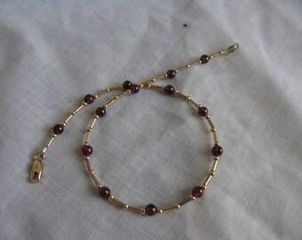 Garnet or Amethyst Ankle Bracelet - MADE TO ORDER