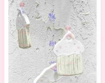 Cupcakes,  Ice Cream Cones, Etc.  Personalized Wind Chime Stoneware Clay