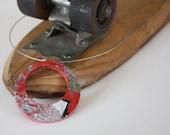 SALE Recycled Skateboard Necklace-Scarlet