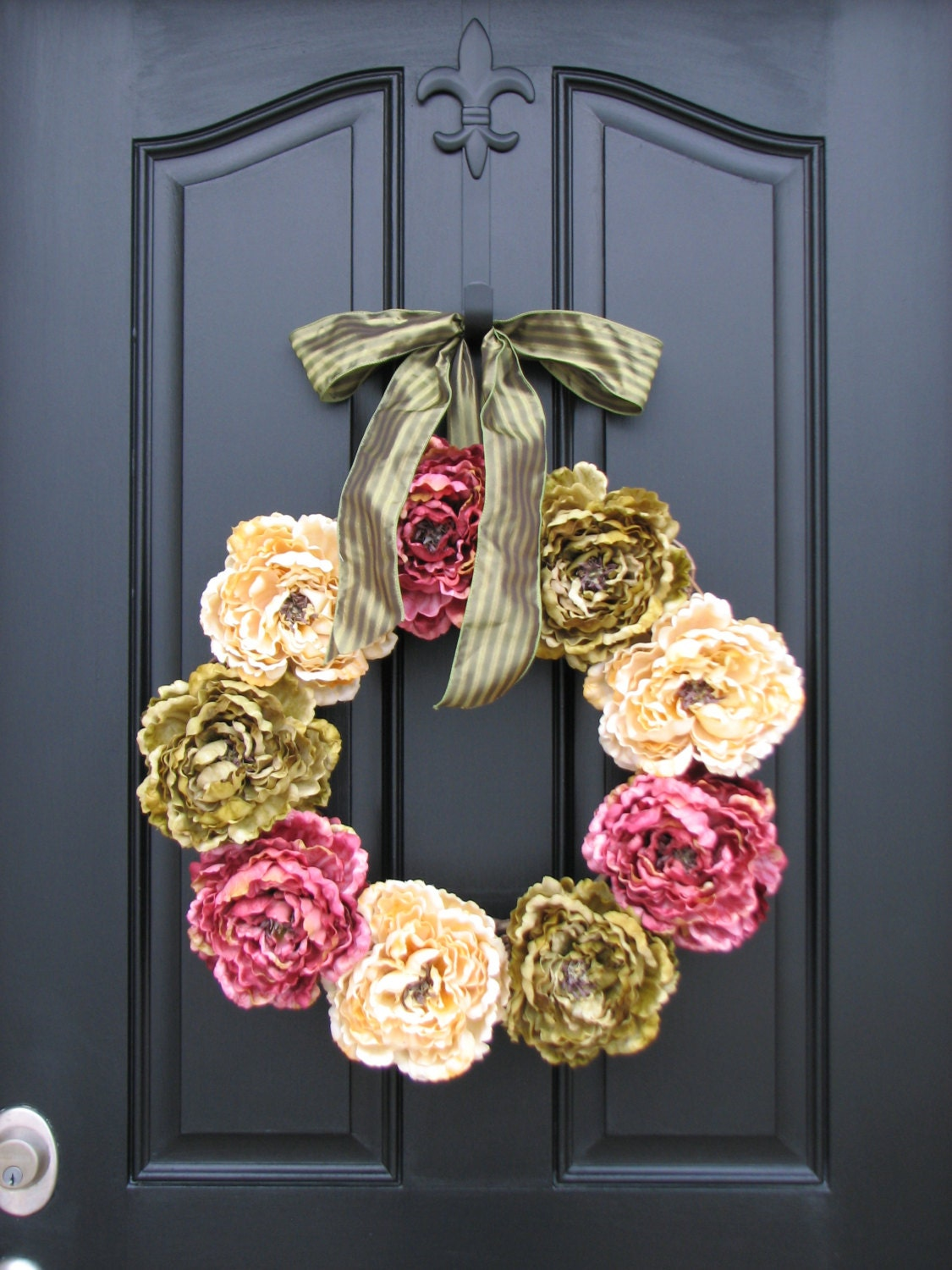 spring peonies front door wreaths traditional by twoinspireyou