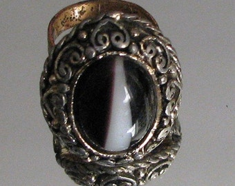 A Bold Cat's Eye Ring
