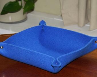 Square Felt Bowl, Valet Tray in 5MM Thick Virgin Merino Wool Felt