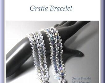 Tila Beading Tutorial instructions patterns- PDF download- Gratia/bracelet