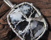 OOAK Tree of Life - Banded Onyx Wire Wrapped - Pendant
