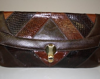 Varon brown clutch purse from Stylefinders