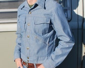 Vintage Denim Jacket Men's Light Jean Jacket Tobias Trend