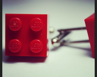 Made from Lego (r) Cherry Red Cufflinks